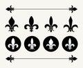 stock image of  Set of fleur de lys design elements