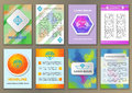 Set of fliers with abstract backgrounds Royalty Free Stock Photo
