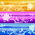 Set of floral backgrounds Stock Image