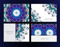 Set of floral backgrounds Royalty Free Stock Photo