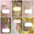 Set of floral card Stock Photography