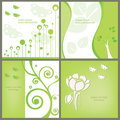 Set of floral cards. Royalty Free Stock Photo