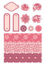 Set of floral design elements Stock Image