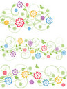 Set of floral design elements. Vector illustration Stock Photo
