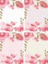 Set of 4 floral frames