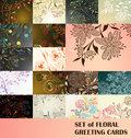 Set of floral greeting cards Stock Image