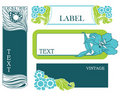 Set of floral labels Stock Images