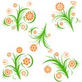 Set of floral ornaments Royalty Free Stock Photography