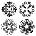 Set of floral ornaments Stock Photo