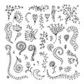 Set of floral ornaments for your design this is file eps format Stock Photography