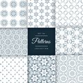 Set of floral style patterns set in different shapes Royalty Free Stock Photo