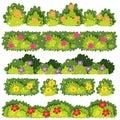 A Set of Flower Bush