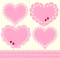 Set of Flower Frame Heart Shape Card Stock Images