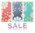 Set of  flowers banner vector Royalty Free Stock Image