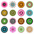 Set of flowers icons Royalty Free Stock Photography