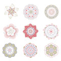 Set of flowers patterned for your design Stock Photos