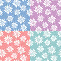 Set of flowers seamless patterns Royalty Free Stock Photography