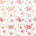 Set of flowers seamless patterns abstract Stock Photo