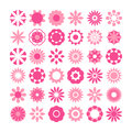 Set of flowers vector, flowers icons Royalty Free Stock Photo