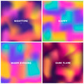 Set fluid colors background, square blurred background, purple,