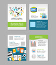 Set of Flyer. Brochure Design Templates. Education Infographic Concept. E-learning Concept.