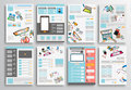 Set of Flyer Design, Web Templates. Brochure Designs Royalty Free Stock Photo