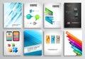Set of Flyer Design, Web Templates. Brochure Designs, Royalty Free Stock Photo