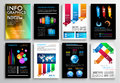 Set of flyer design web templates brochure designs technology backgrounds mobile technologies infographic ans statistic concepts Royalty Free Stock Photos