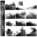Royalty Free Stock Photo Set of fog effects