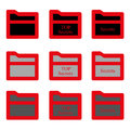 Set folder glyph icon. Vector EPS 10.