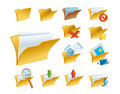 A set of the folder icons Stock Images