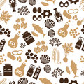 Set of food allergens for restaurants seamless pattern