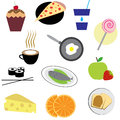 Set of Food Icons Stock Photos