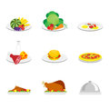 Set of food icons vector illustration Royalty Free Stock Photos