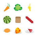 Set of food icons vector illustration Royalty Free Stock Photography