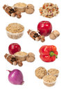 Set with food ingredients Royalty Free Stock Photography