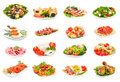 Set of food on the plate Royalty Free Stock Photo