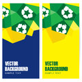 Set of football soccer polygon banners abstract modern in brazilian flag and design illustration background Royalty Free Stock Photos