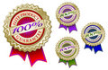 Set of Four 100% Elite Product Guarantee Emblem Se Royalty Free Stock Image