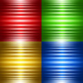 Set of four abstract backgrounds with luminous stripes vector background Stock Images