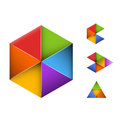 Set of four abstract geometrical symbols Royalty Free Stock Photo