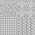 Set of four abstract seamless patterns which reflect the theme o Royalty Free Stock Photo