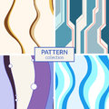 Set of four abstract vector seamless patterns. Royalty Free Stock Photo