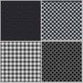 Set of four backgrounds abstract dotted and metal textures vector eps Royalty Free Stock Images