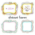 Set of four beautiful abstract frames. Royalty Free Stock Photo