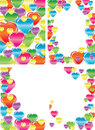Set of four beautiful backgrounds with hearts Stock Image