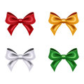Set of four bows colorful isolated on a white background Stock Photo