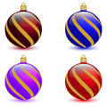 Set of four Christmas balls Royalty Free Stock Photo