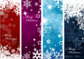 Set of four colorful Christmas background banners