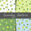 A set of four different color patterns seamless Royalty Free Stock Photo